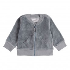 Gilet Velours Bleu gris