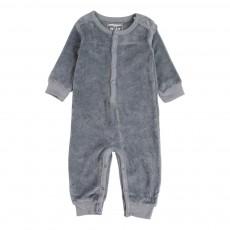 Combinaison Velours Sans Pied Bleu gris