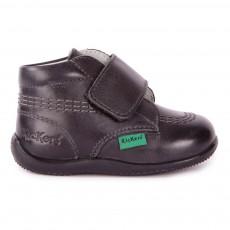 Boots Cuir à Scratch Bilou Noir