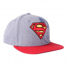 Casquette Heather Face Superman Gris