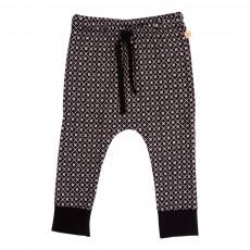Pantalon Monogramme Noir