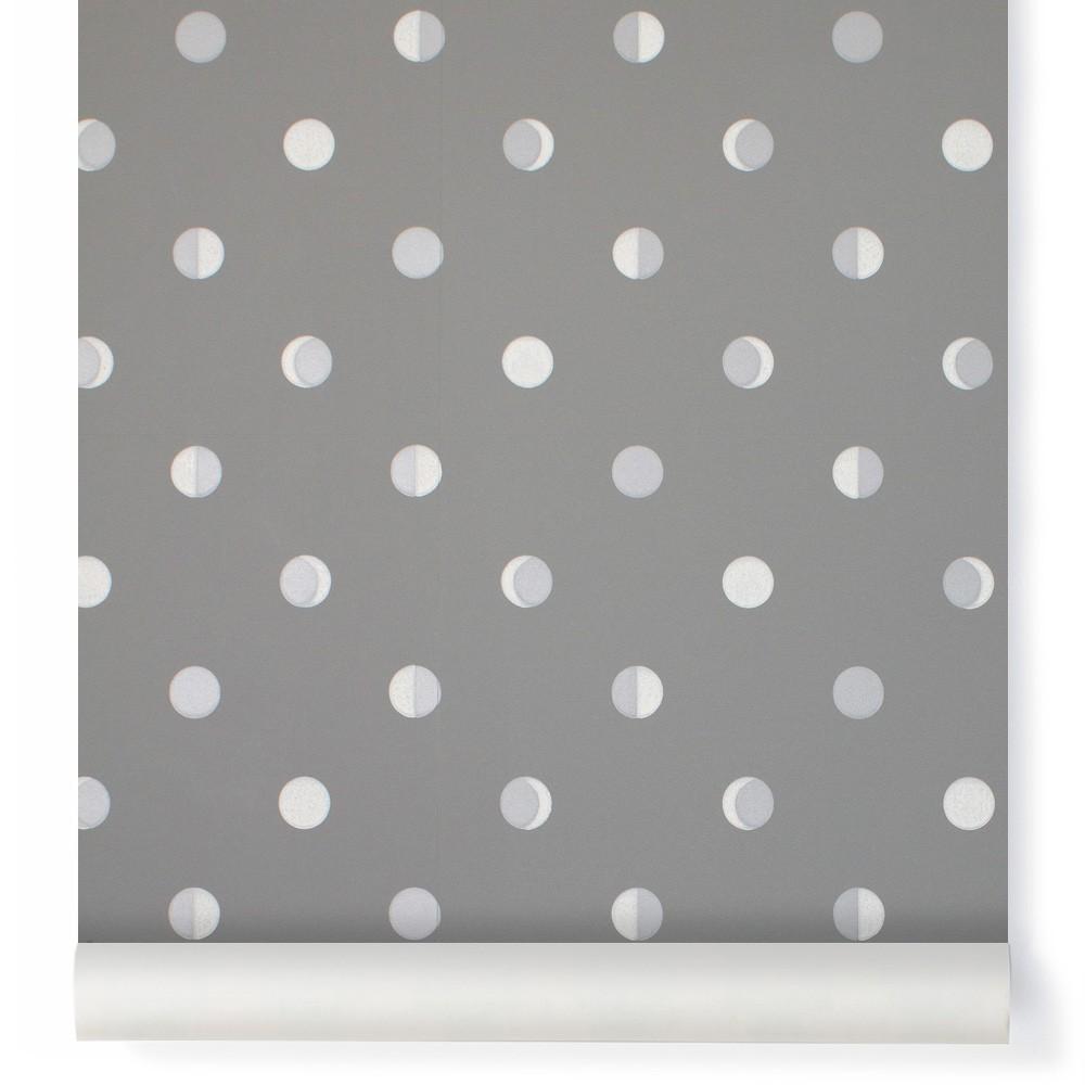 papier peint croissants de lune gris mistigri bartsch d coration smallable. Black Bedroom Furniture Sets. Home Design Ideas