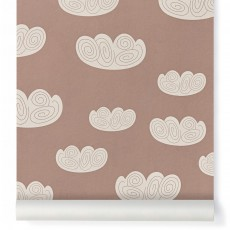 Papier peint Cloud - Rose