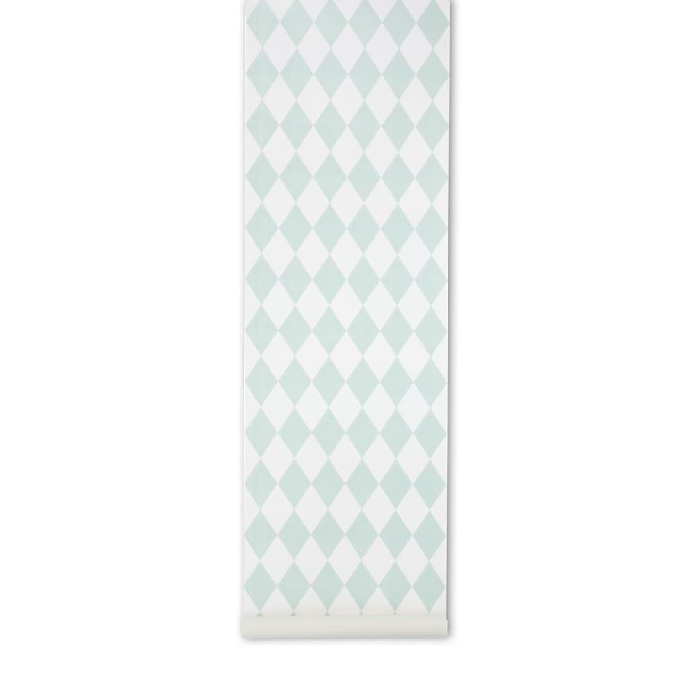 papier peint harlequin vert menthe ferm living d coration smallable