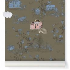 Papier peint magnétique Woodland et aimants - Vert Kaki