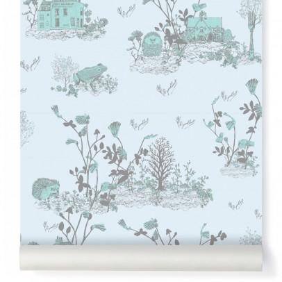 papier peint woodland bleu gris sian zeng d coration smallable. Black Bedroom Furniture Sets. Home Design Ideas