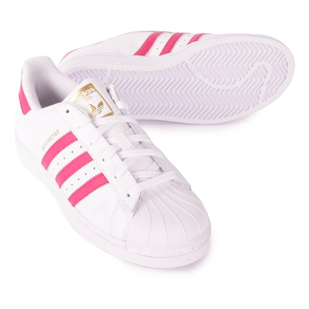 superstar bianche e rosa chiaro