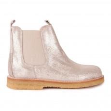 Boots Chelsea Métallisées Doré