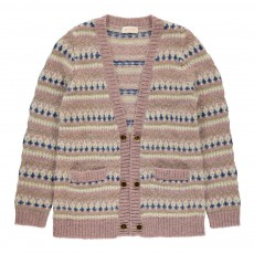 Cardigan Jacquard Lurex Hippy Rose