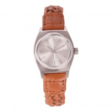 Montre Small Time Teller Leather Taupe