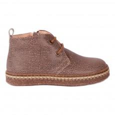 Deserts Boots Fourrées Chevrons Zip Marron