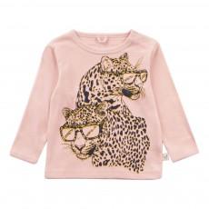 T-shirt Tigres Lunettes Sandy Rose pâle