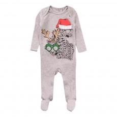 Pyjama Tigres Noël Rufus Gris