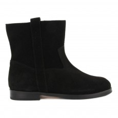 Bottines Cuir Suede Noir