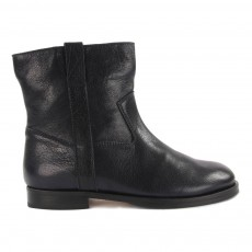 Bottines Cuir Buffalo Bleu marine