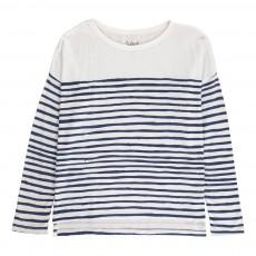 T-Shirt Marinière Oversize Nukio Blanc