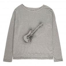 T-Shirt Oversize Guitare Nugui Gris chiné