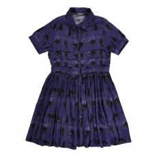 Robe Chats Céline Bleu indigo