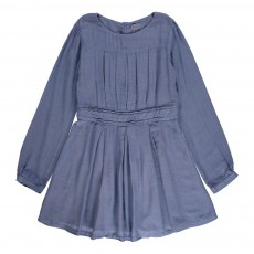 Robe Plissée Colette Bleu