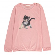 T-Shirt Chaton Missy Rose pâle
