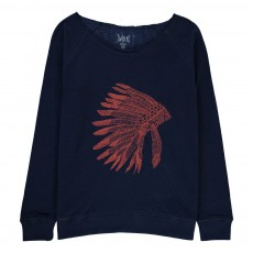 T-Shirt Double Jersey Indien Nuphie Bleu marine