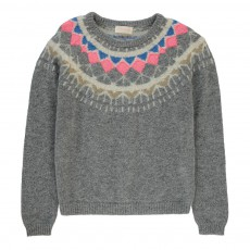 Pull Jacquard Nancy Gris clair