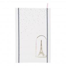 Torchon traditionnel Eiffel 80x50 cm Doré