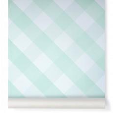 Papier peint Ravissant Vichy Vert amande