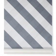 Papier peint Ravissant Vichy Bleu gris