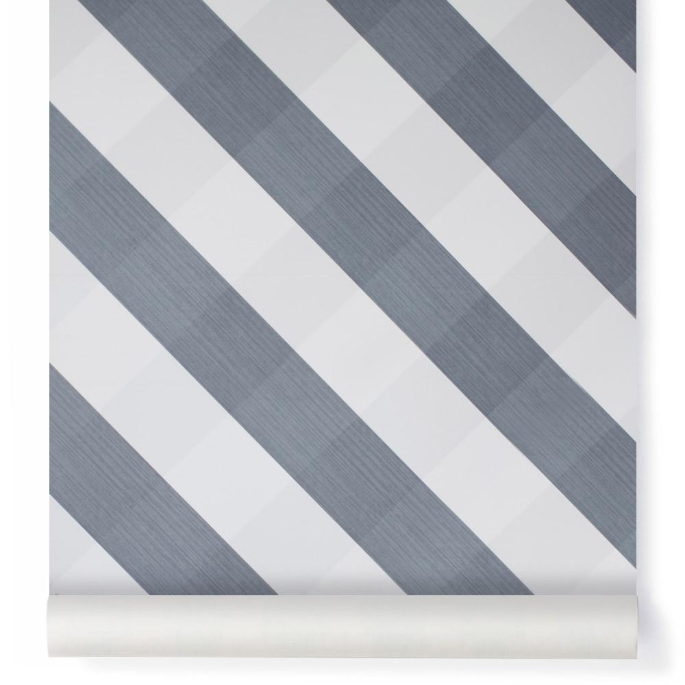 Papier peint Ravissant Vichy Bleu gris Bartsch