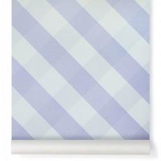 Papier peint Ravissant Vichy Lavande