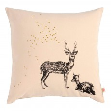 Coussin déhoussable Bambi 50x50 cm Rose poudré