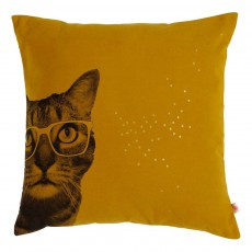 Coussin déhoussable Zwicky 50x50 cm Jaune moutarde