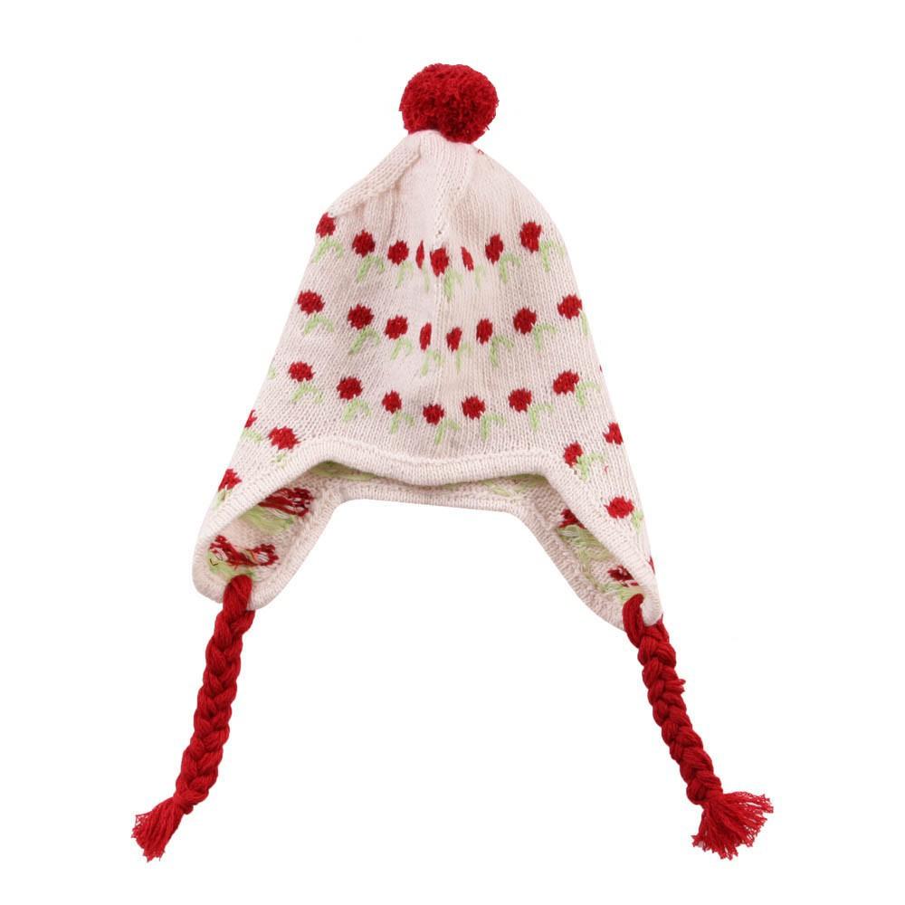 bonnet p ruvien cerises cr me le petit lucas du tertre mode enfant smallable. Black Bedroom Furniture Sets. Home Design Ideas