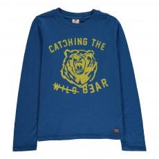 T-Shirt Ours Bleu