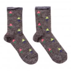 Chaussettes Triangles Julia Noir Gris