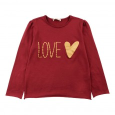 "T-Shirt ""Love"" Bordeaux"