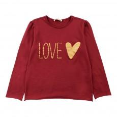 """T-Shirt """"Love"""" Bordeaux"""