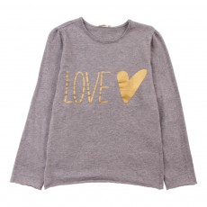 "T-Shirt ""Love"" Gris chiné"