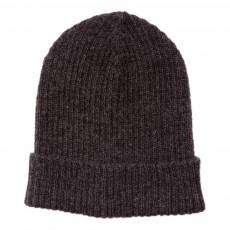 Bonnet Côtelé Alpaga Gris charbon