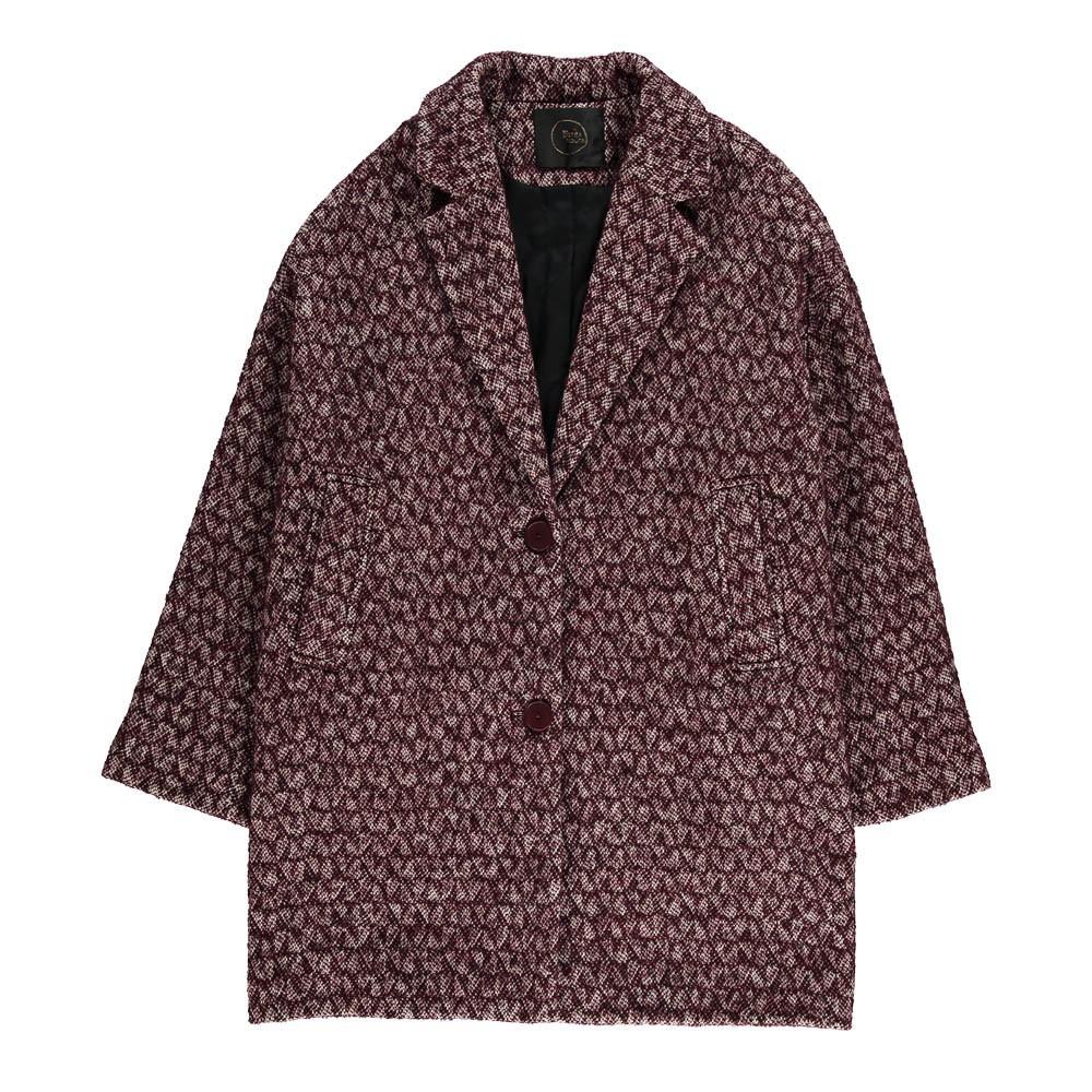 manteau mouchet liria bordeaux des petits hauts mode. Black Bedroom Furniture Sets. Home Design Ideas