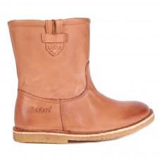 Boots Cuir Zippées Cressona Camel