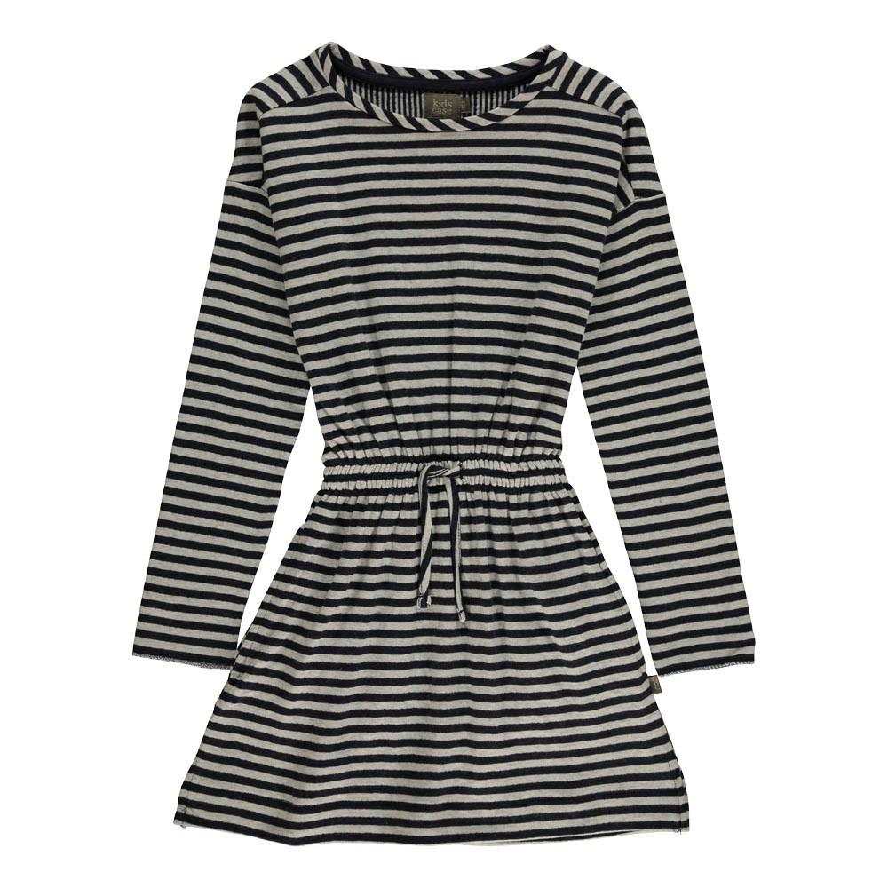 robe ray e taille resserr e sean coton bio bleu marine kidscase mode enfant smallable. Black Bedroom Furniture Sets. Home Design Ideas