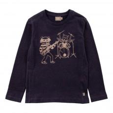 T-shirt Band Lucy Coton Bio Bleu marine