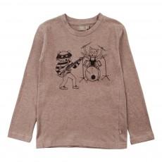 T-shirt Band Lucy Coton Bio Gris