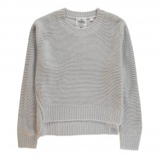 Pull Col Rond Save Gris