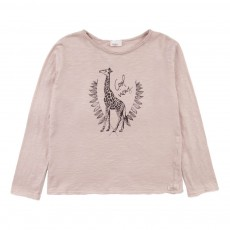 T-Shirt Girafe Samy Rose