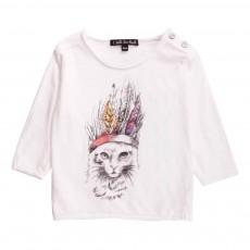 T-Shirt Chat Dune Blanc