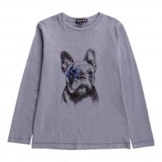 T-Shirt Chien Denis Bleu
