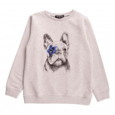 Sweat Chien Emet Gris chiné